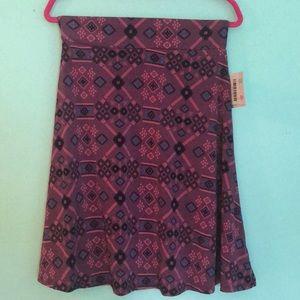 Aztec lularoe Azure skirt medium